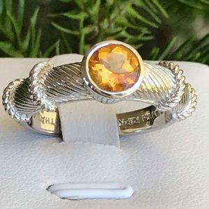 Judith Ripka 925 Yellow Citrine Ring